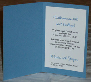 Invitation cards AC