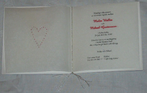Invitation cards MM